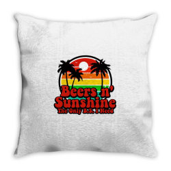 the only bs i need is beers and sunshine Throw Pillow | Artistshot