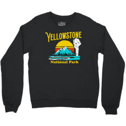 vintage yellowstone national park Crewneck Sweatshirt | Artistshot