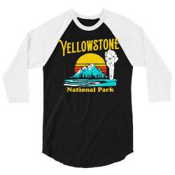 vintage yellowstone national park 3/4 Sleeve Shirt | Artistshot