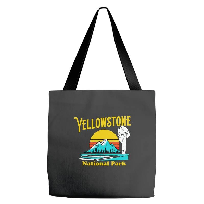 Vintage Yellowstone National Park Tote Bags | Artistshot