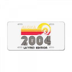 aloha 2004 limited edition License Plate | Artistshot