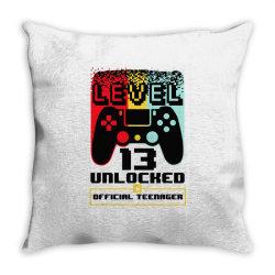 13th birthday gift boys level 13 unlocked Throw Pillow | Artistshot