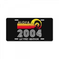 aloha 2004 limited edition License Plate   Artistshot