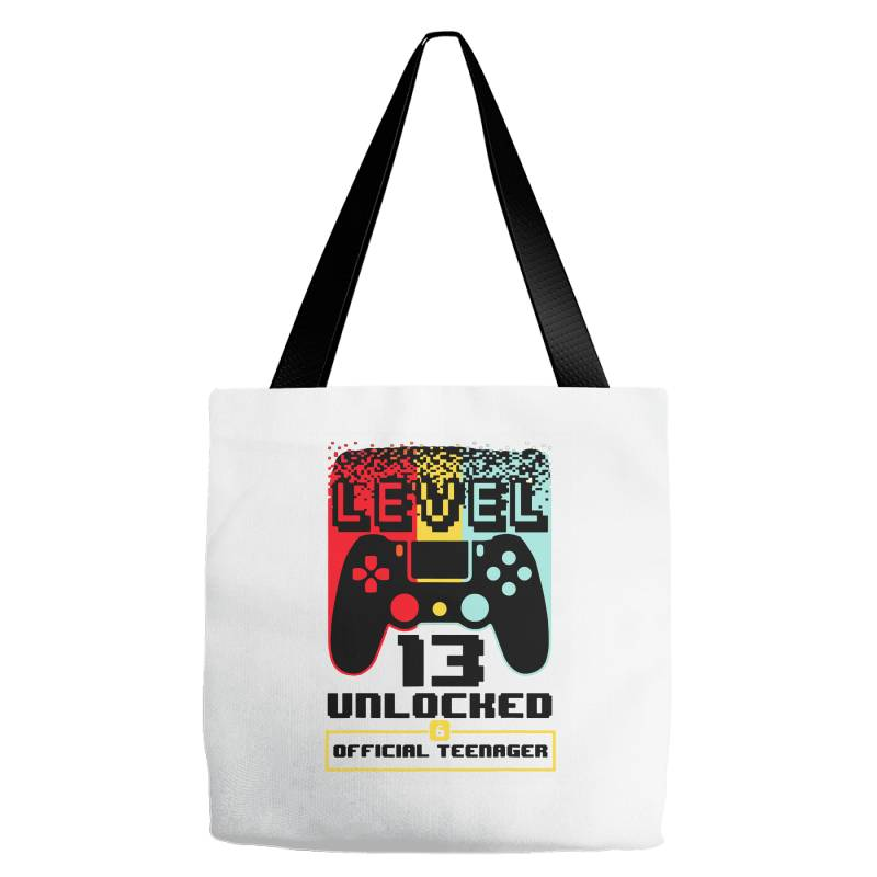 13th Birthday Gift Boys Level 13 Unlocked Tote Bags | Artistshot