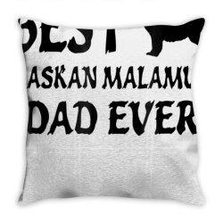 best alaskan malamute dad ever tshirt Throw Pillow | Artistshot