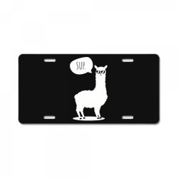 sup no drama llama funny cute License Plate | Artistshot