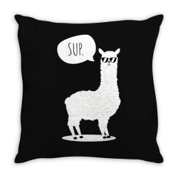 sup no drama llama funny cute Throw Pillow | Artistshot