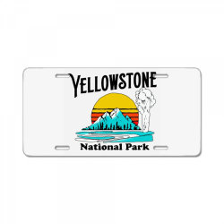 vintage yellowstone national park License Plate   Artistshot