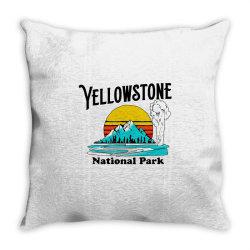 vintage yellowstone national park Throw Pillow   Artistshot