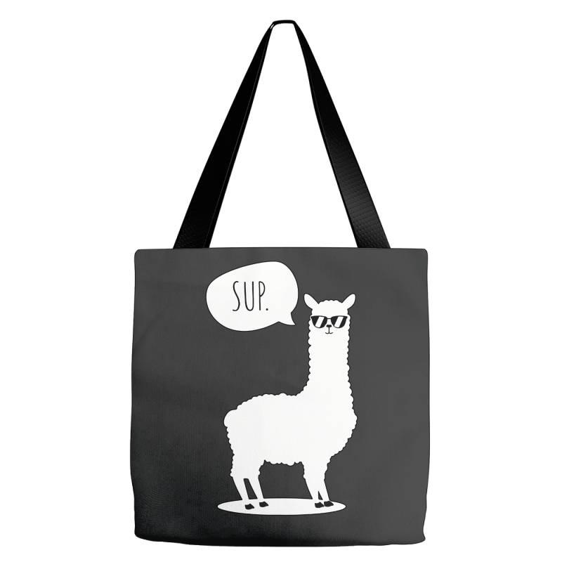 Sup No Drama Llama Funny Cute Tote Bags   Artistshot
