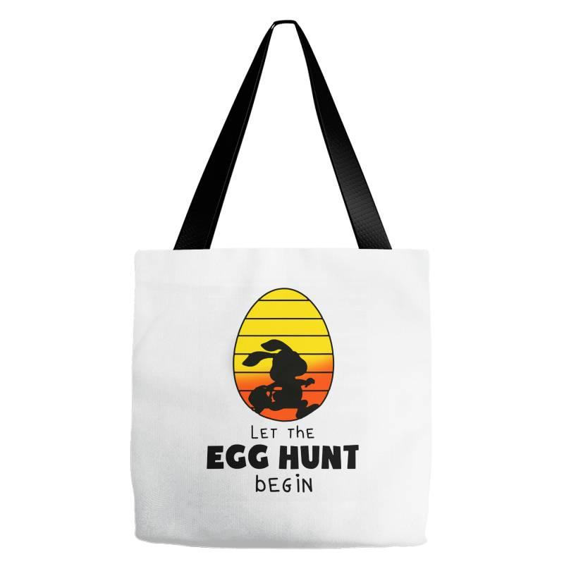 Let The Egg Hunt Begin Easter Tote Bags | Artistshot