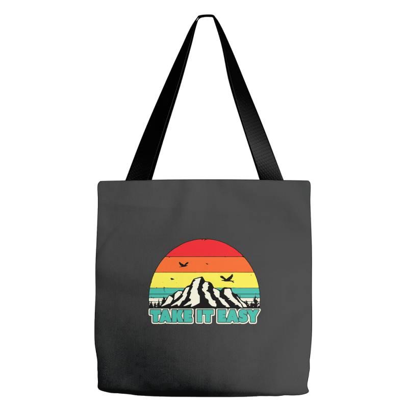 Take It Easy Retro Style Outdoors Tote Bags | Artistshot
