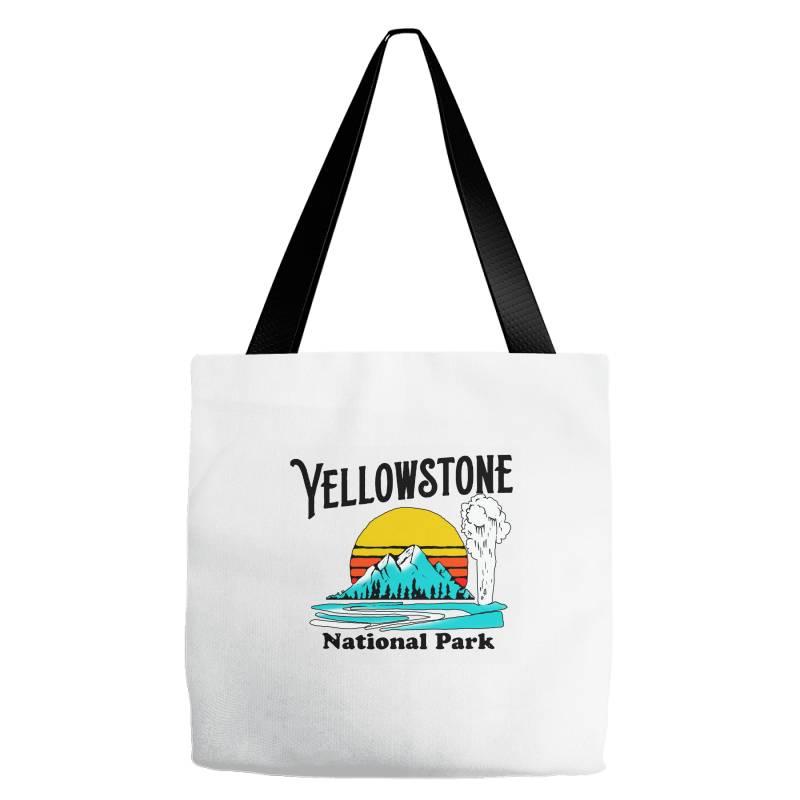 Vintage Yellowstone National Park Tote Bags   Artistshot