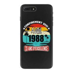 confinement 2021 april 1988 33 ans d'excellence iPhone 7 Plus Case | Artistshot