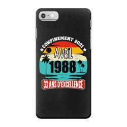 confinement 2021 april 1988 33 ans d'excellence iPhone 7 Case | Artistshot