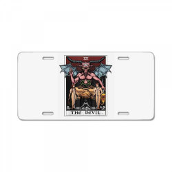 tarot card baphomet gothic License Plate   Artistshot