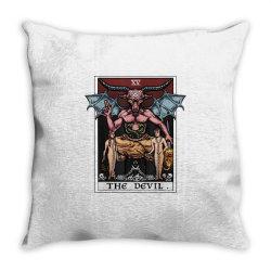tarot card baphomet gothic Throw Pillow   Artistshot