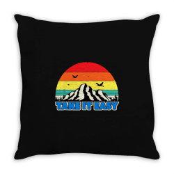 take it easy retro style outdoors Throw Pillow | Artistshot