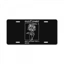 sunflower style hs License Plate | Artistshot