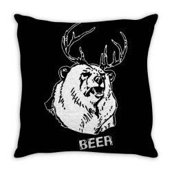 macs bear beer Throw Pillow | Artistshot