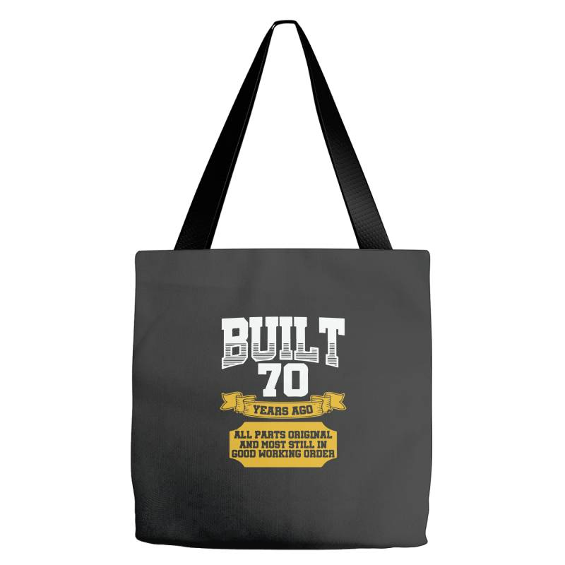 Built 70th Birthday Tote Bags | Artistshot