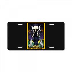 the goddess hecate tarot card triple moon License Plate | Artistshot