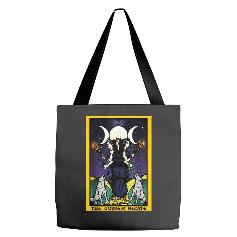 The Goddess Hecate Tarot Card Triple Moon Tote Bags | Artistshot