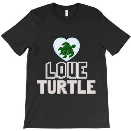 Love Turtle T-shirt Designed By Hatta1976