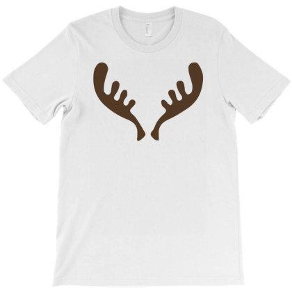 Elk Moose Reindeer Horns T-shirt Designed By Putiandini