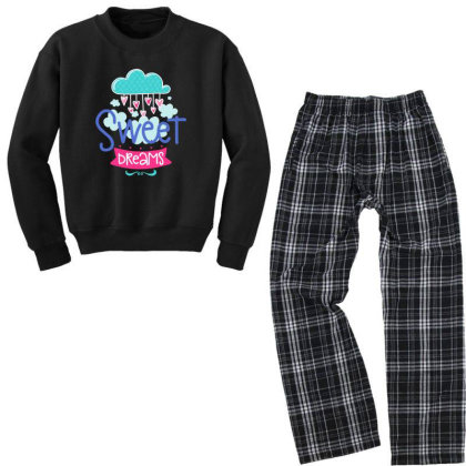 Sweet Dreams Youth Sweatshirt Pajama Set Designed By Gnuh79