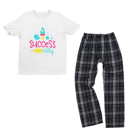 Success Is Not Easy Youth T-shirt Pajama Set Designed By Gnuh79
