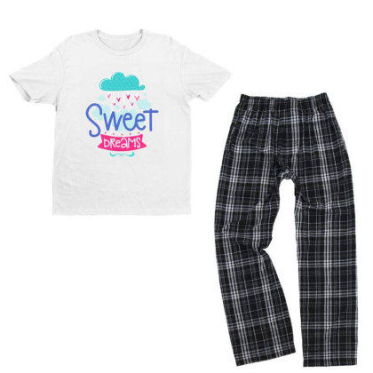Sweet Dreams Youth T-shirt Pajama Set Designed By Gnuh79