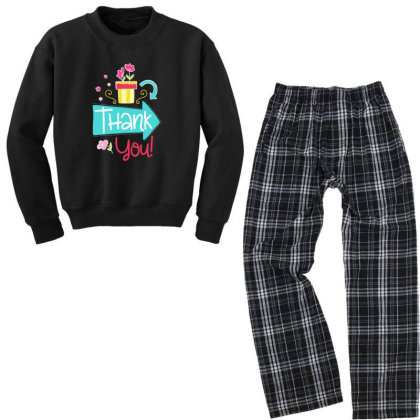 Thank You Youth Sweatshirt Pajama Set Designed By Gnuh79
