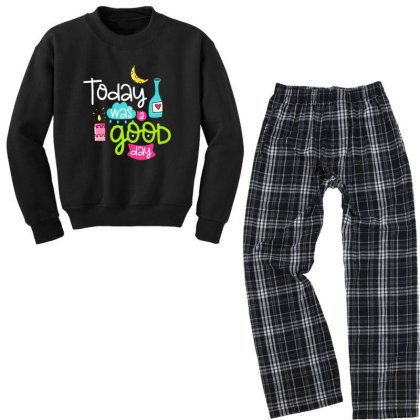 Today Was A Good Day Youth Sweatshirt Pajama Set Designed By Gnuh79