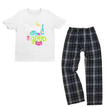 Today Was A Good Day Youth T-shirt Pajama Set Designed By Gnuh79