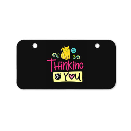 Thinking Of You Bicycle License Plate Designed By Gnuh79