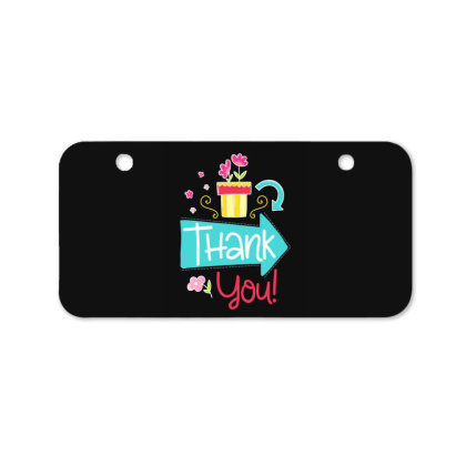 Thank You Bicycle License Plate Designed By Gnuh79