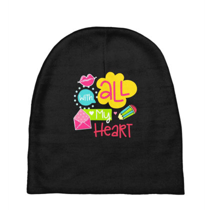 With All My Heart Baby Beanies Designed By Gnuh79