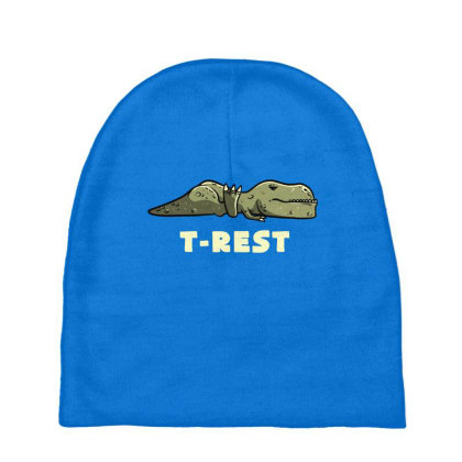 T-rest Lazy Funny Dinosaur Gift Baby Beanies Designed By Eduely
