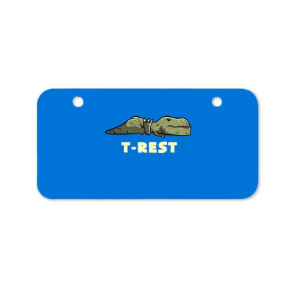 T-rest Lazy Funny Dinosaur Gift Bicycle License Plate Designed By Eduely