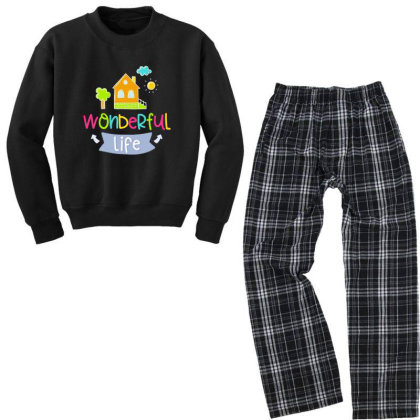 Wonderful Life Youth Sweatshirt Pajama Set Designed By Gnuh79