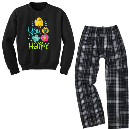You Are My Happy Youth Sweatshirt Pajama Set Designed By Gnuh79