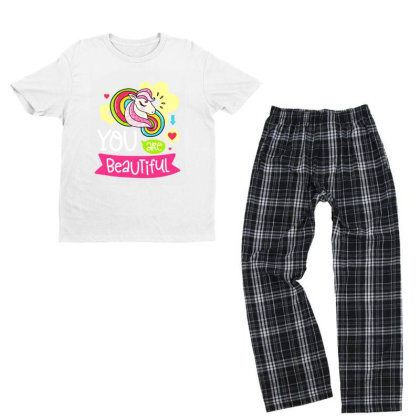 You Are Beaytiful T Shirt Youth T-shirt Pajama Set Designed By Gnuh79