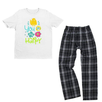 You Are My Happy Youth T-shirt Pajama Set Designed By Gnuh79
