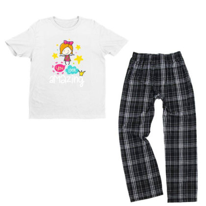 You Look Amazing Youth T-shirt Pajama Set Designed By Gnuh79