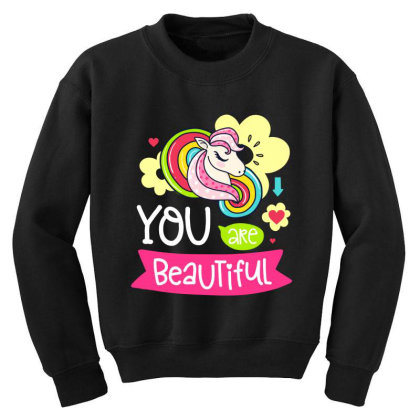 You Are Beaytiful T Shirt Youth Sweatshirt Designed By Gnuh79