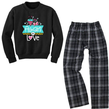 Always In Love Youth Sweatshirt Pajama Set Designed By Gnuh79