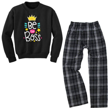 Be The Boss Youth Sweatshirt Pajama Set Designed By Gnuh79