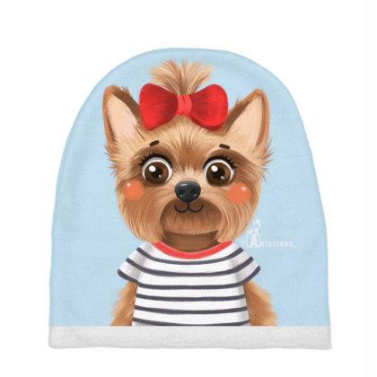 Dog Girl Baby Beanies Designed By Barzilova Alyona