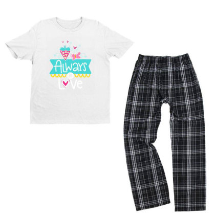 Always In Love Youth T-shirt Pajama Set Designed By Gnuh79